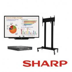 "Pizarron Interactivo SHARP PNL603B Touch LCD 60"" Uso Rudo 3YR"