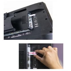 """Monitor SHARP PNY325 LED 32"""" FHD Bezel 24MM HDMI Uso Rudo 3YR"""
