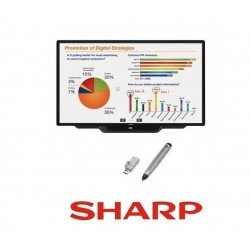 "Pizarron Interactivo SHARP PN-C603D Touch LCD 60"" Uso Rudo 3YR"