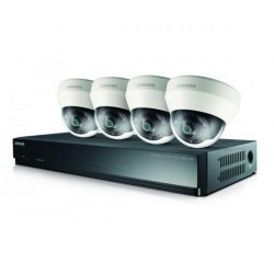 Cámara de seguridad SAMSUNG SRK-3040SN1T/UC NVR 1TB HDD 60FT CAT5 NE 4 NETWORK CAMERAS