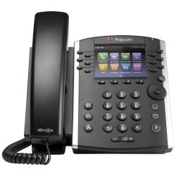 Telefono Escritorio Polycom VVX 411 POE 12 Lineas HD Voice para Skype 2200-48450-019