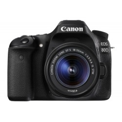 Canon EOS 80D + EF-S 18-55mm f/3.5-5.6 IS STM Juego de cámara SLR 24,2 MP CMOS 6000 x 4000 Pixeles Negro
