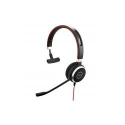 Jabra Monoaural Evolve 40 UC, Alámbrico, 3.5mm/USB, Negro
