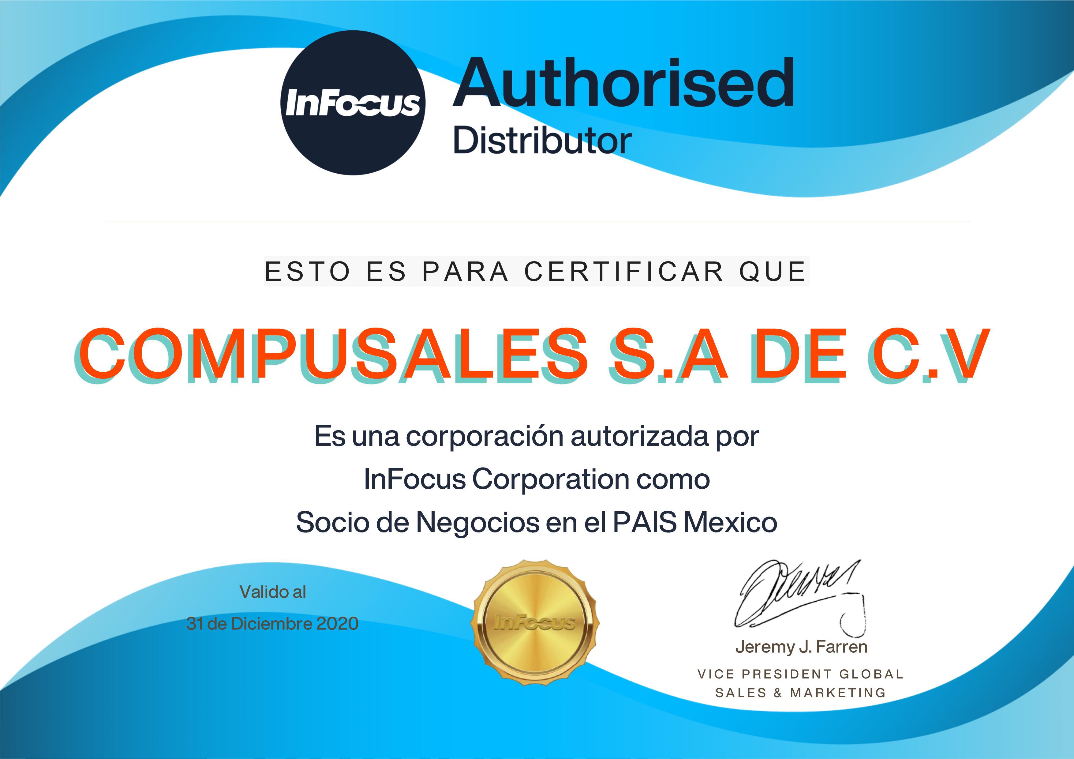 Distribuidor Infocus