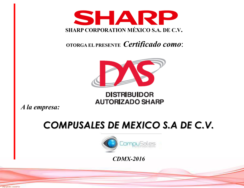 Certificado Sharp