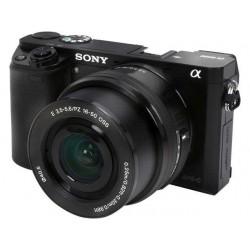 Cámara SONY Alpha ILCE-6000L Mirrorless Digital Pantalla LCD 24.3 Mpx 8X HDMI WiFi NFC