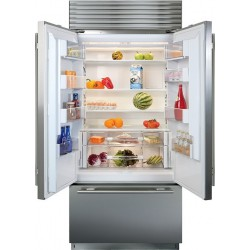 """Refrigerador / Congelador Empotrable Sub-Zero BI-36UFD/S/TH con puerta francesa de 36"""""""