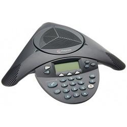 Polycom Teléfono Analógico SoundStation2 para Conferencias, Micrófono de 360°
