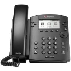 Telefono Escritorio Polycom VVX 311 POE 6 Lineas para Skype 2200-48350-019