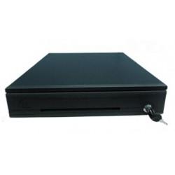 Cajón de Dinero POSIFLEX CR-4100-B 2 llaves 5 Separadores de Billete 8 Separadores de Moneda Cangrejos Metálicos